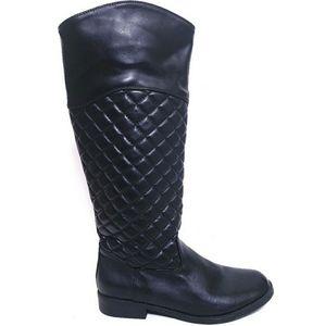 Curfew Ella Black Quilted Tall Riding Boots Sz 10